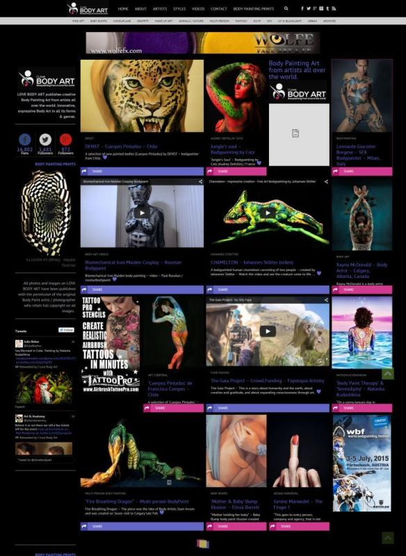 Website design grid  - ilovebodyart