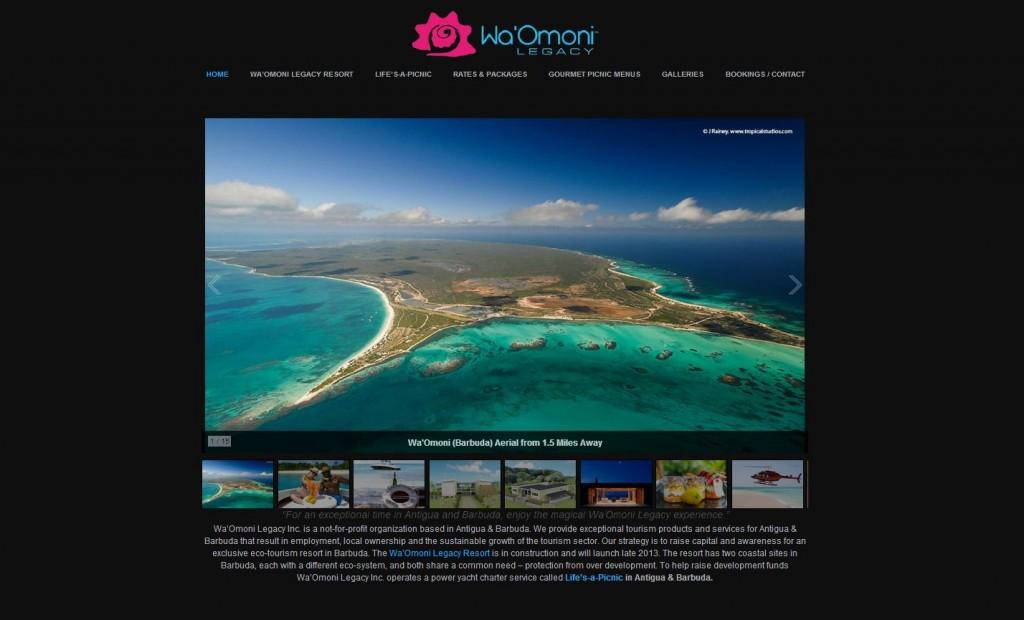 WaOmoni Legacy website design